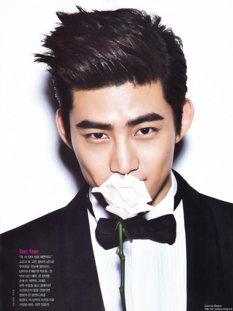 "Nhk Calendar Wallpaper : Scan taecyeon ceci magazine ""flower boys special book"